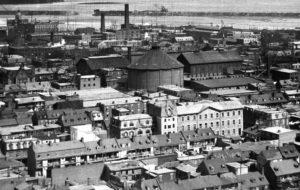 Montréal 1896. Griffintown - Sud-Est de rue de la Montagne.